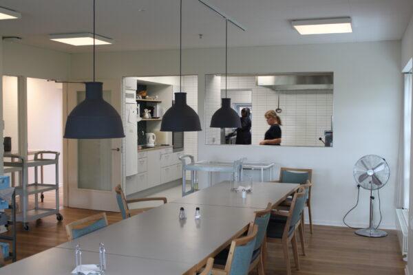 Produktionskøkken på Sønderskovhus Plejehjem